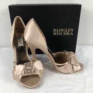 Badgley Mischka Rhinestone Heels Size 9